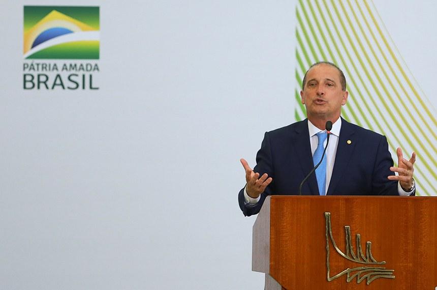 O ministro da Cidadania,Onyx Lorenzoni, participa do Lançamento do Centenário Olímpico do Brasil