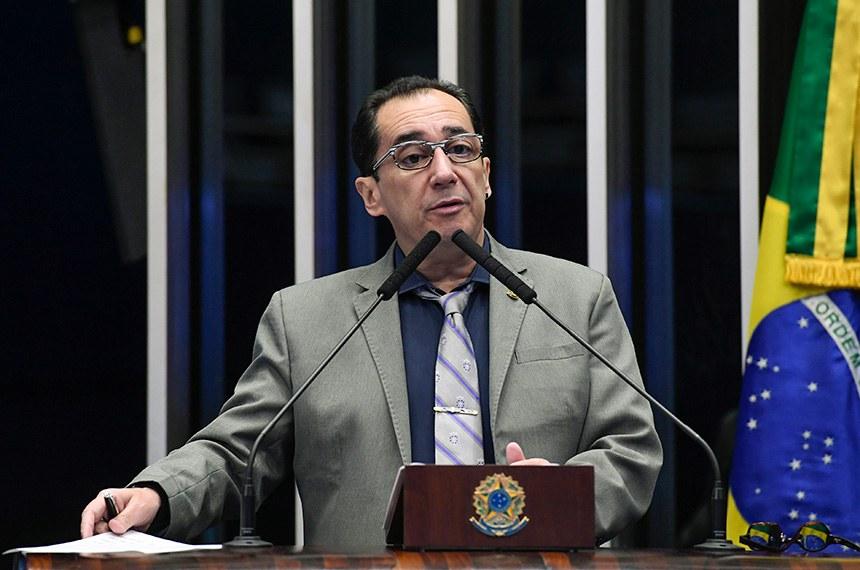 Plenário do Senado Federal durante sessão não deliberativa.   Em discurso, à tribuna, senador Jorge Kajuru (Cidadania-GO).  Foto: Roque de Sá/Agência Senado