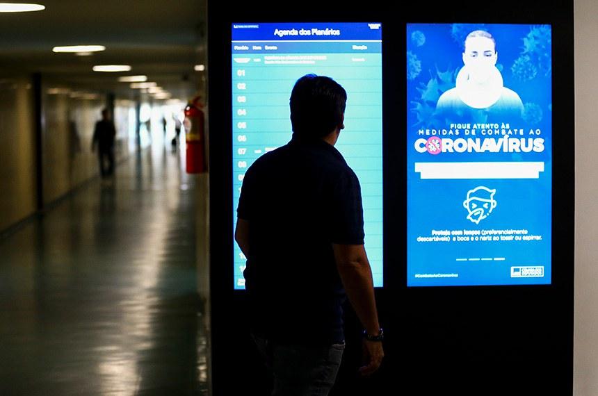 Congresso Nacional tem movimento reduzido em razão da pandemia do novo coronavírus.