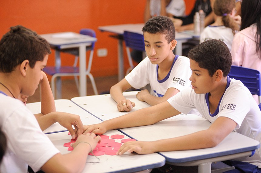 100 anos de Athos Bulcão - Centro de Ensino Fundamental Athos Bulcão (CEFAB) do Cruzeiro Novo.   Foto: Pedro França/Agência Senado