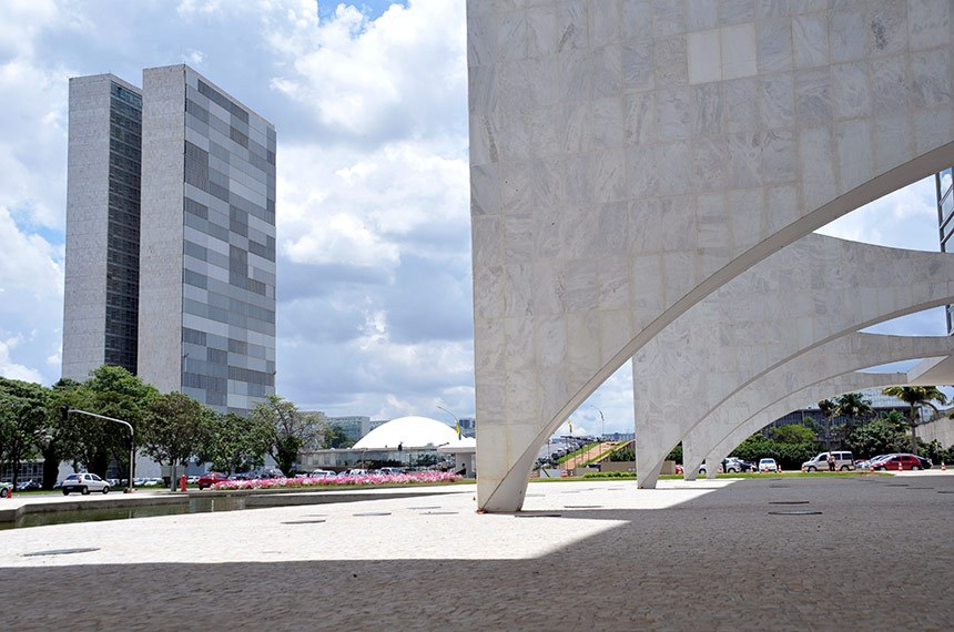 Palácio do Congresso Nacional visto a partir do Palácio do Planalto.  Foto: Cléber Medeiros/Senado Federal