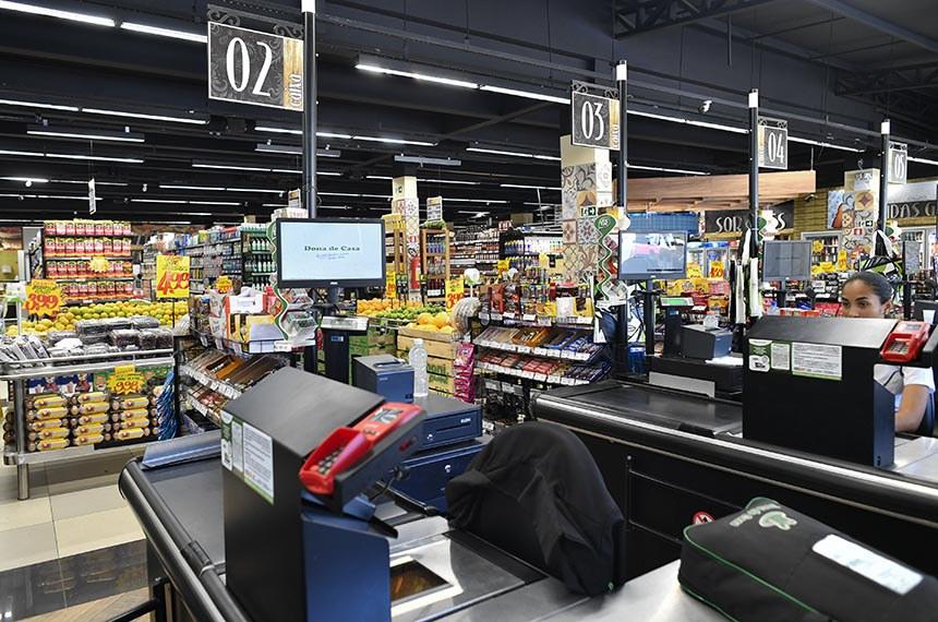 Produtos do Supermercado Dona de Casa de Sobradinho, Brasília - DF.   Foto: Geraldo Magela/Agência Senado
