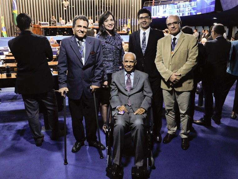 Plenário do Senado Federal durante sessão deliberativa ordinária.   Ao centro, ex-senador Iram Saraiva.  Foto: Jonas Pereira/Agência Senado