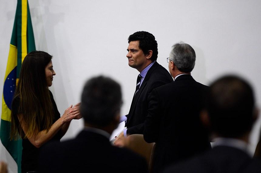 O ministro da Justiça e Segurança Pública, Sergio Moro, fala à  imprensa e anuncia demissao.