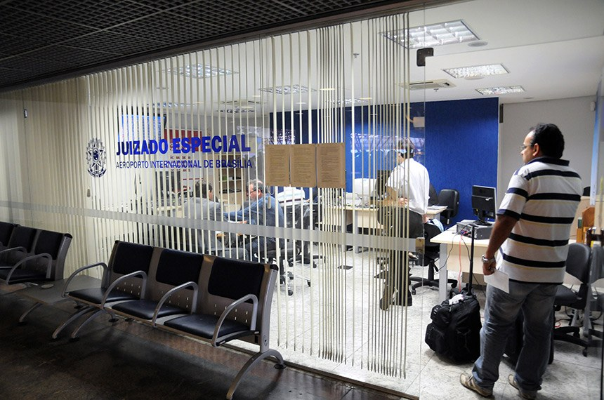 Juizado Especial no Aeroporto Internacional Juscelino Kubitschek.   Foto: Gilmar Félix/Agência CNJ