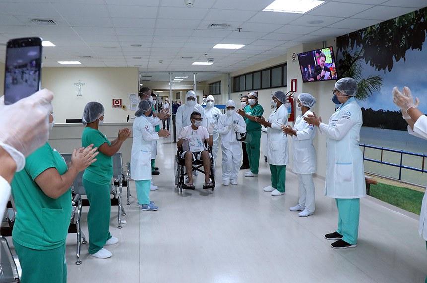 Governo muda protocolo de atendimento para pacientes com síndrome respiratória - Sandro Gomes se recuperou e teve alta hospitalar. Foto Jader Paes/Ag.Pará