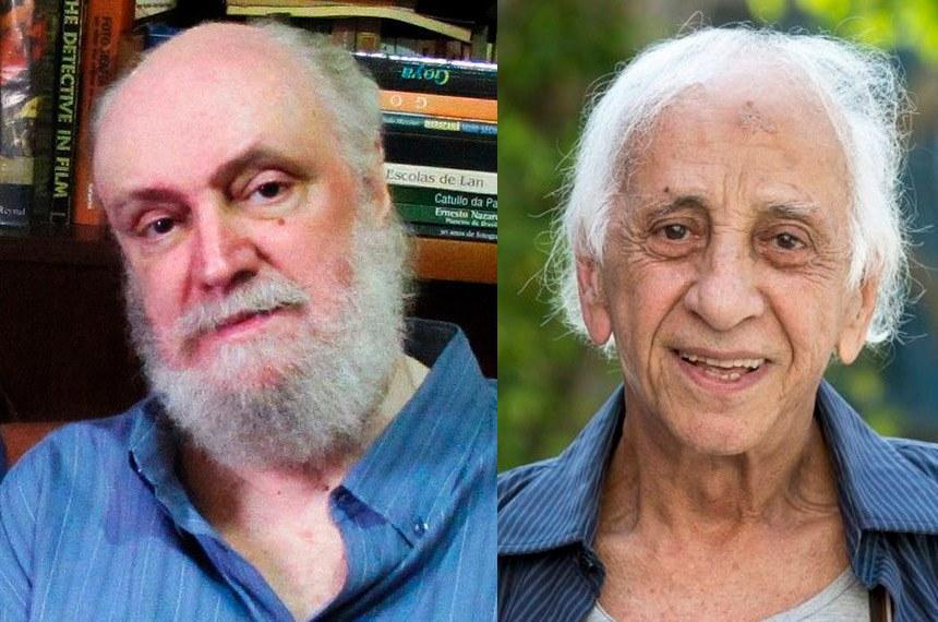 O letrista e escritor Aldir Blanc (à esq.) e o ator Flávio Migliaccio faleceram nesta segunda-feira (4)