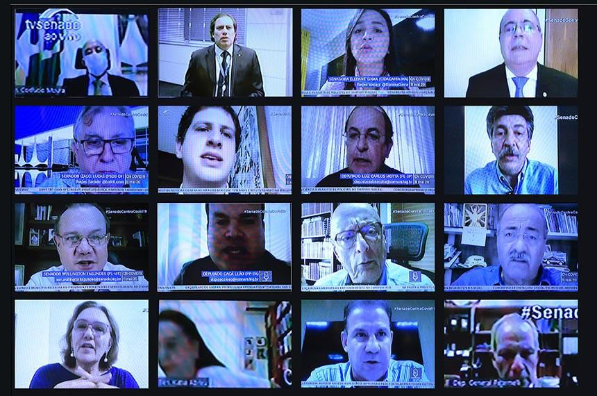 Videoconferência com presidente da Caixa reuniu senadores e deputados