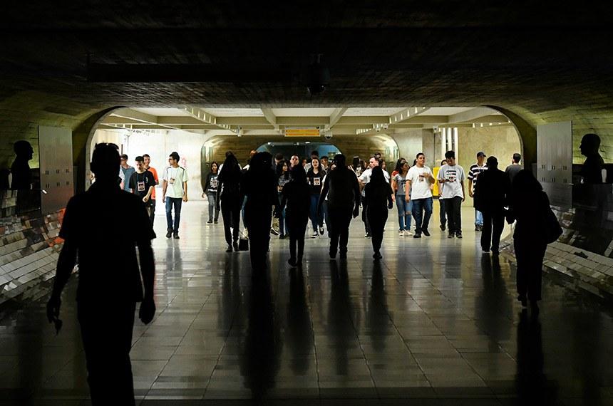 Túnel do Tempo - Senado Federal.   Foto: Marcos Oliveira/Agência Senado