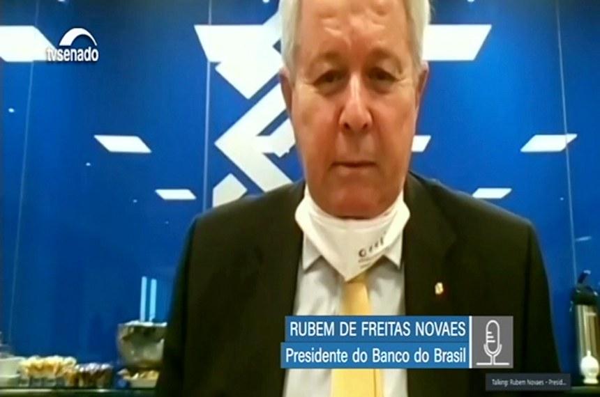 Rubem Novaes falou aos parlamentares sobre as medidas do banco na crise do coronavírus