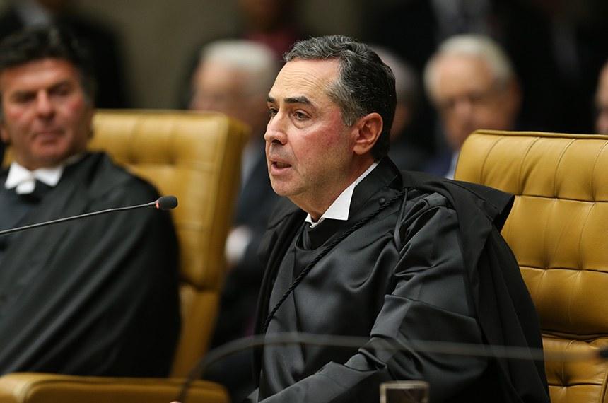 O ministro do STF Roberto Barroso durante solenidade de posse do novo presidente do Supremo Tribunal Federal (STF), ministro Dias Toffoli.