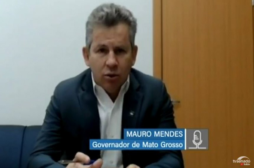 governador do Mato Grosso, Mauro Mendes