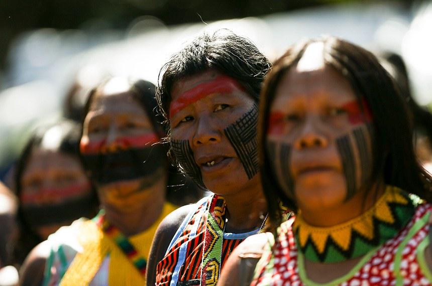 Indígenas de todo o Brasil chegam à Brasília para o Acampamento Terra Livre 2018.  Foto: Marcelo Camargo/ABr