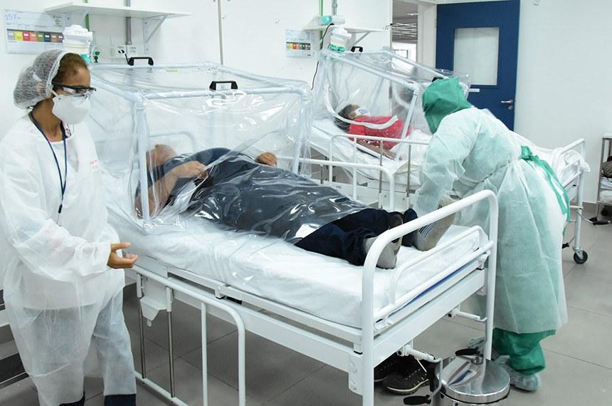 14.06.20. Pacientes indígenas recebem tratamento no hospital municipal de campanha Gilberto Novaes Fotos: Ingrid Anne - HCM