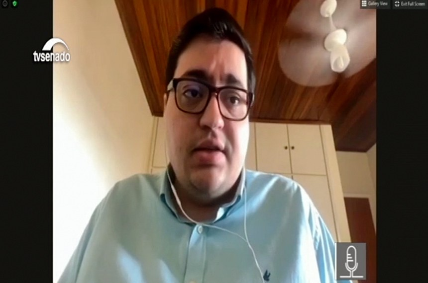 Felipe Salto, diretor-executivo da Instituição Fiscal Independente, participou de debate da comissão mista que acompanha as medidas relacionadas à covid-19