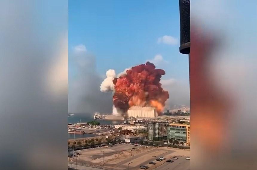 Explosão que abalou Beirute foi ouvida a 200 quilômetros de distância