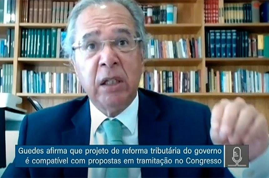 Paulo Guedes em audiência na comissão mista da reforma tributária, nesta quarta