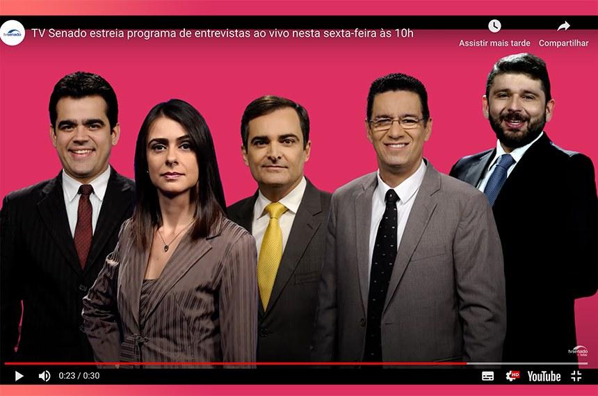 Tv Senado Estreia Programa De Entrevistas Com Participação Do Público Ao Vivo Senado Notícias