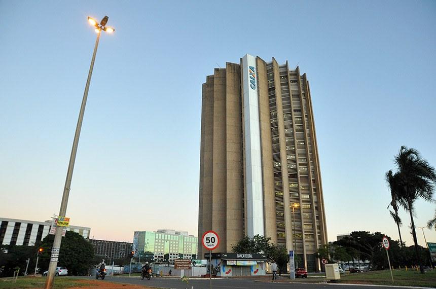 Fachada do edifício-sede do banco Caixa Econômica Federal (CEF).  Foto: Leonardo Sá/Agência Senado