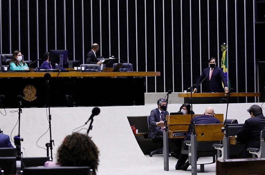 Sessão do Congresso Nacional Destinada à deliberação de vetos projetos de lei do Congresso Nacional. Presidente da Câmara dos Deputados, dep. Rodrigo Maia (DEM - RJ) Foto - Najara Araújo/Câmara dos Deputados