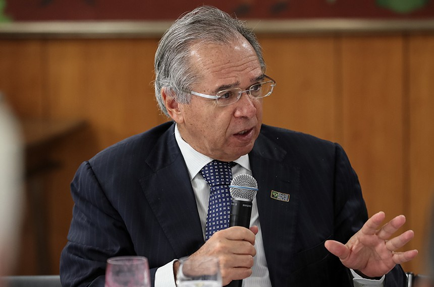 (Brasília - DF, 29/08/2019) Palavras do Ministro de Estado da Economia, Paulo Roberto Nunes Guedes.  Foto: Marcos Corrêa/PR