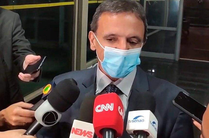 Senador Marcio Bittar durante entrevista.  Reprodução/Youtube Senador Marcio Bittar
