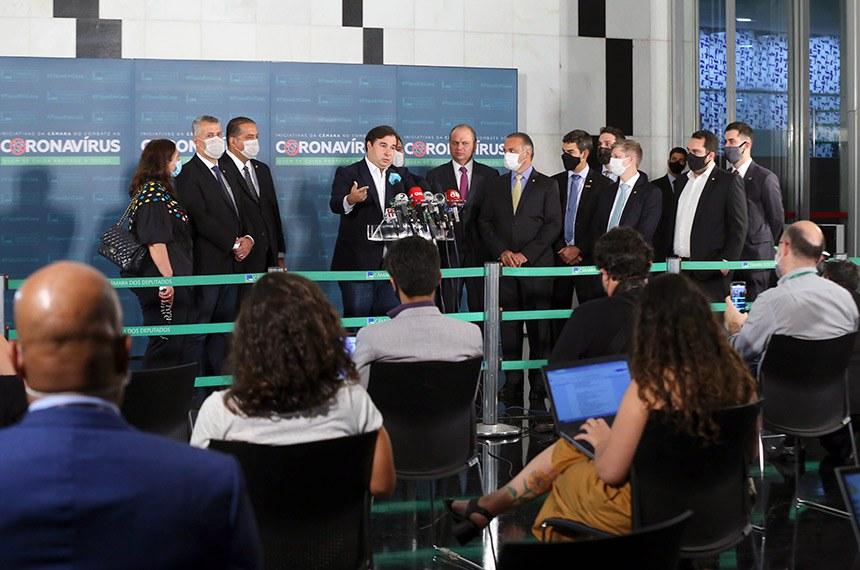 Cerimônia de Entrega da PEC da Reforma Administrativa. Presidente da Câmara dos Deputados, dep. Rodrigo Maia  Foto - Najara Araujo/Câmara dos Deputados