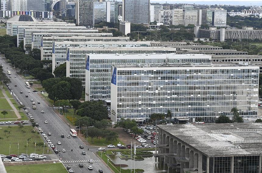 Vista aérea da Esplanada dos Ministérios.  Foto: Edilson Rodrigues/Agência Senado
