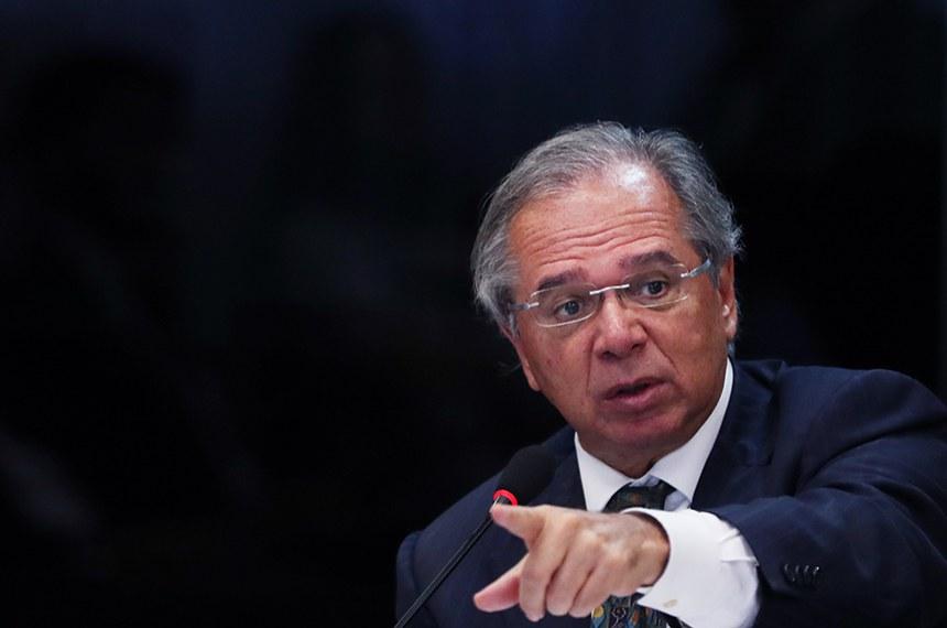 Paulo Guedes, ministro da Economia, durante reunião do CNPE (Conselho Nacional de Politica Energética)