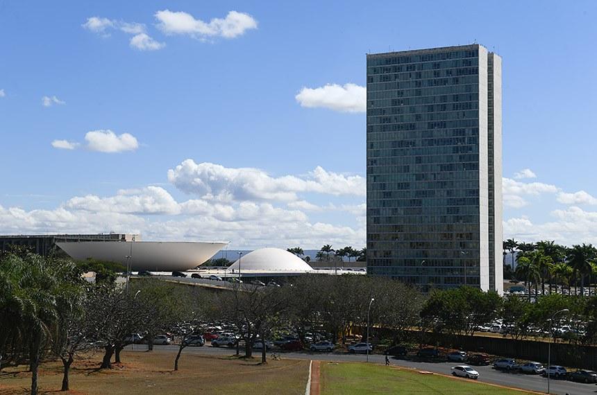 Imagem externa do Congresso Nacional.    Foto: Marcos Oliveira/Agência Senado