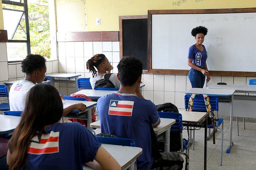 Escolas dão iniício às aulas de monitoria do Programa Mais Estudo. Na foto: Kailane Francisca, estudante-monitora.  Foto: Camila Souza/GOVBA