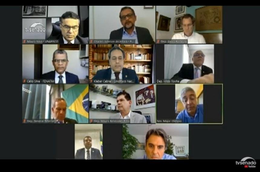 A Comissão Mista da Reforma Tributária realizou audiência pública remota nesta quinta-feira