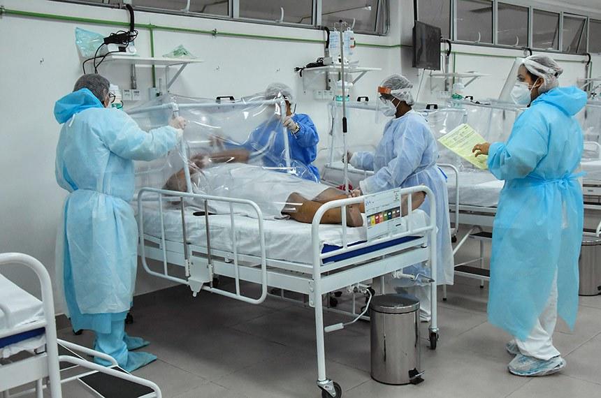 Hospital de Campanha Municipal abre mais 13 leitos e chega a 156 vagas de internação.  Manaus - AM 21.05.2020 Hospital de Campanha Municipal abre mais 13 leitos e chega a 156 vagas de internação.Foto: Ingrid Anne