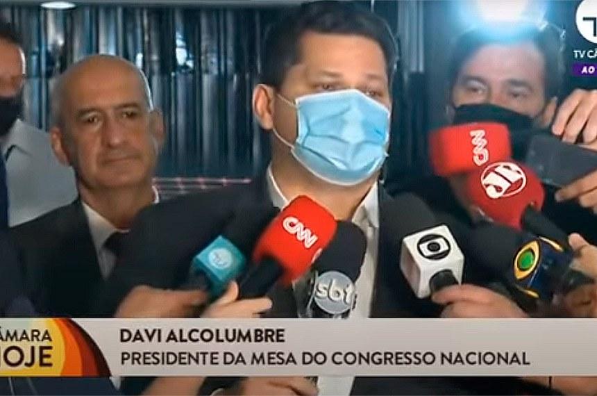 Reunião ontem com Presidente Davi, Rodrigo Maia e Paulo Guedes.