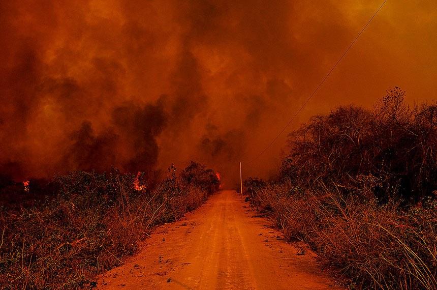 Mato Gosso MT 13 09 2020-Incêndio no Pantanal A Delegacia de Meio Ambiente (Dema) apura quem são os possíveis responsáveis pelos focos de incêndio, que deram início a grandes queimadas no Pantanal. As cinco perícias realizadas pelo Centro Integrado Multiagências de Coordenação Operacional (Ciman-MT) apontaram ação humana como causa da origem das queimadas na região   Foto: Mayke Toscano/Secom-MT