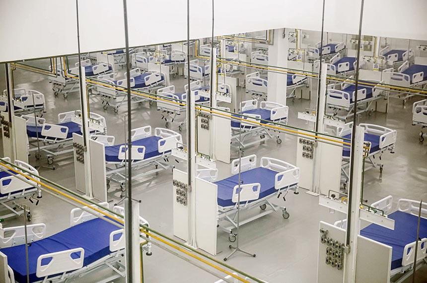 PCR constrói hospital de campanha maior que o Hospital da Mulher, em 20 dias.Fotos: Andréa Rêgo Barros/PCR