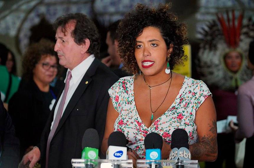 Parlasul aprova moção de apoio a deputada Talíria Petrone  Foto: Pablo Valadares/Câmara dos Deputados