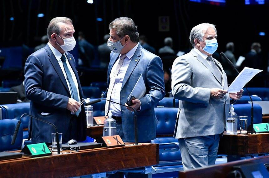 O requerimento da sessão especial foi apresentado pelo senador Izalci Lucas (à dir.)