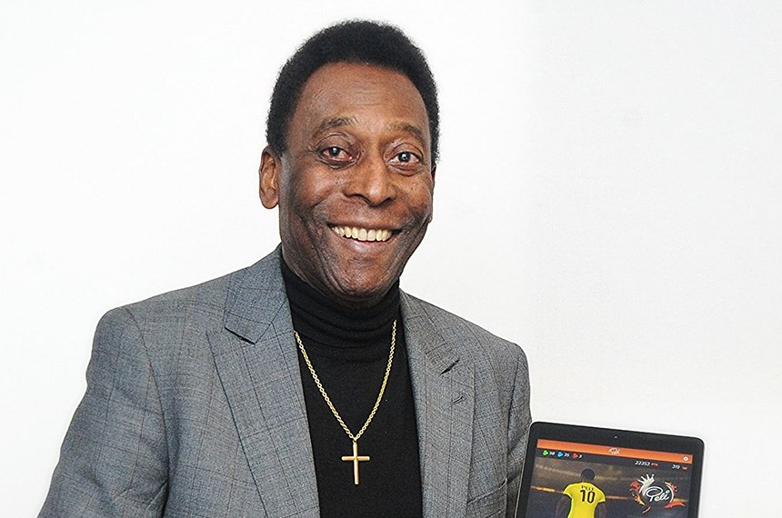Jogador de futebol, Edson Arantes do Nascimento (Pelé).