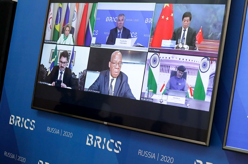 Conferência da Cúpula do Brics estava originalmente agendada para julho de 2020, em São Petersburgo (Rússia). Devido à pandemia da covid-19, foi realizada de forma online nesta terça-feira (27)