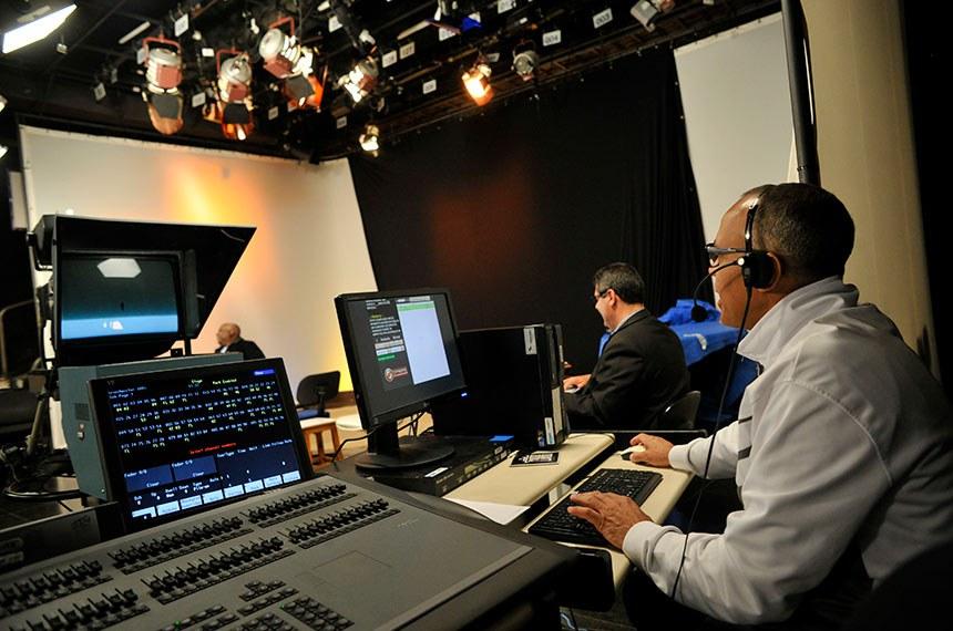 20 anos TV Senado  Foto: estúdio da TV Senado.