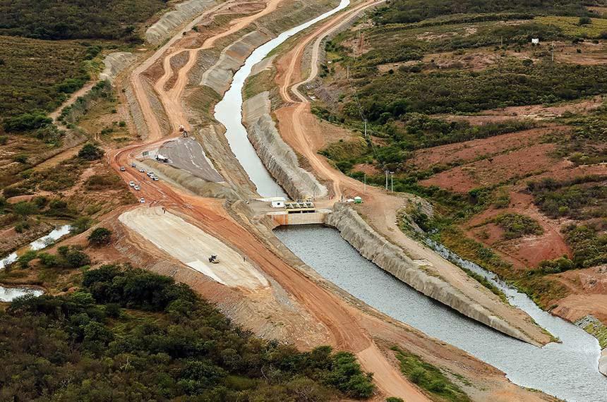 (Penaforte - CE, 26/06/2020) Sobrevoo sobre o canal do rio São Francisco no estado do Ceará. Foto: Isac Nóbrega/PR