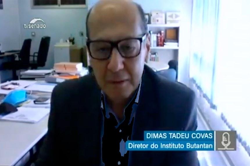 Dimas Covas: maiores efeitos de suspensão de testes foram políticos
