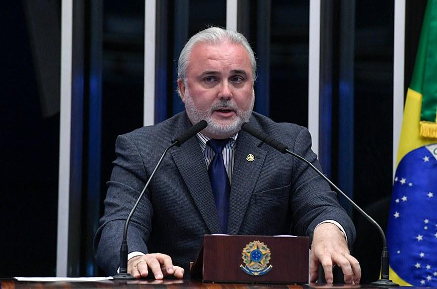 Plenário do Senado Federal durante sessão não deliberativa.   À tribuna, em discurso, senador Jean Paul Prates (PT-RN).  Foto: Roque de Sá/Agência Senado