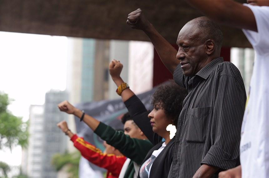 20/11/2017- São Paulo- 14ª Marcha da Conciência Negra de São Paulo. Contra racismo e o genocídio: Por um projeto político de vida para o povo negro.  Foto: Paulo Pinto