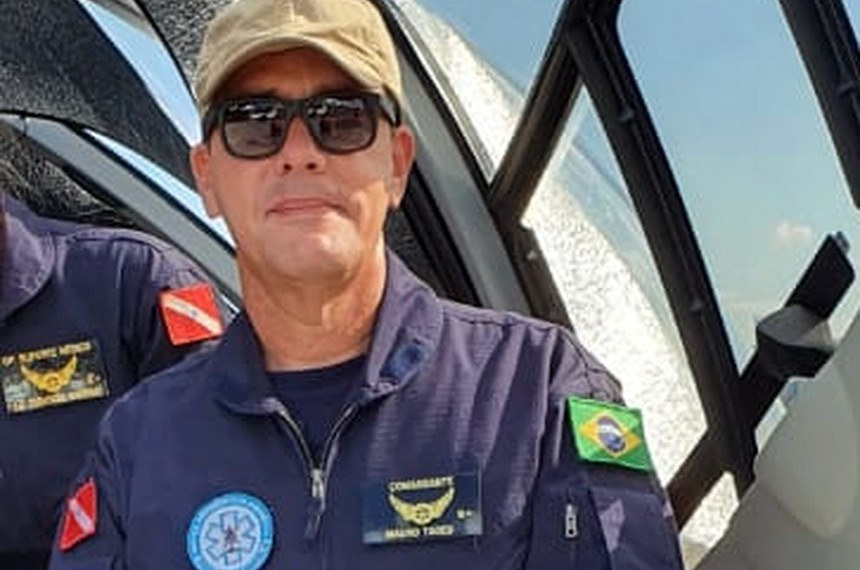 Aeronave do Ibama cai na divisa de MT e MS, piloto morre.  Coronel Mauro Tadeu morreu em acidente de avião  Foto: Arquivo Pessoal