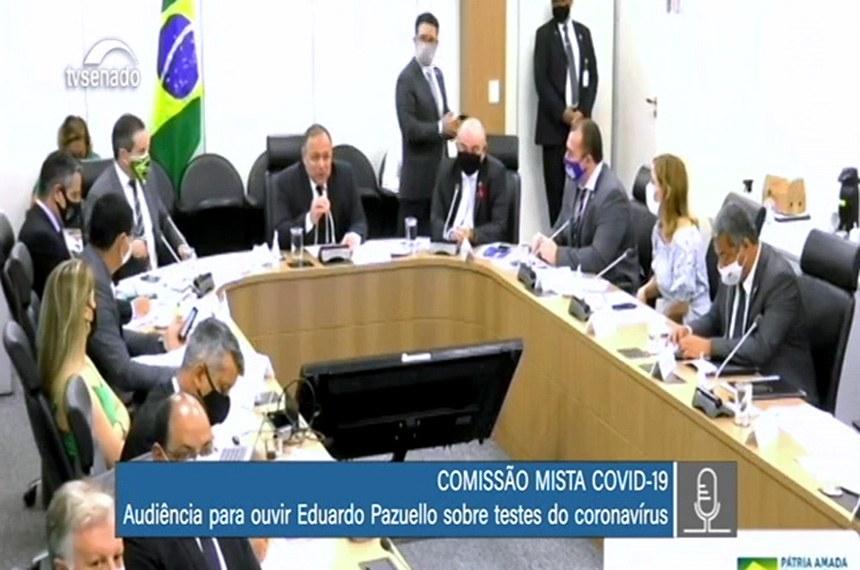 Comissão Covid com Ministro da Saúde, Eduardo Pazuello