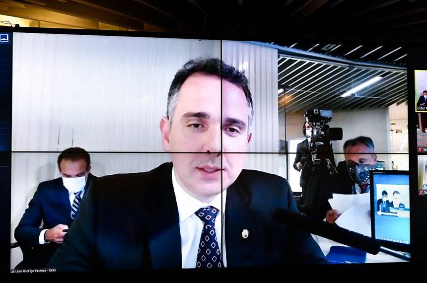 O senador Rodrigo Pacheco é o autor desse projeto de lei