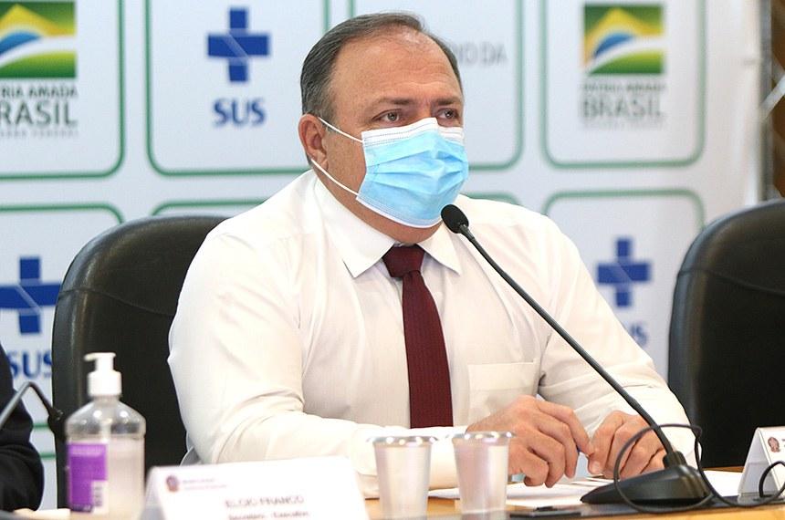 O ministro da saúde interino, Eduardo Pazuello, participa do lançamento do Sistema de mapeamento em Educação na Saúde - (SIIMAPES). Brasília, 06/08/2020. Foto: Erasmo Salomão/MS
