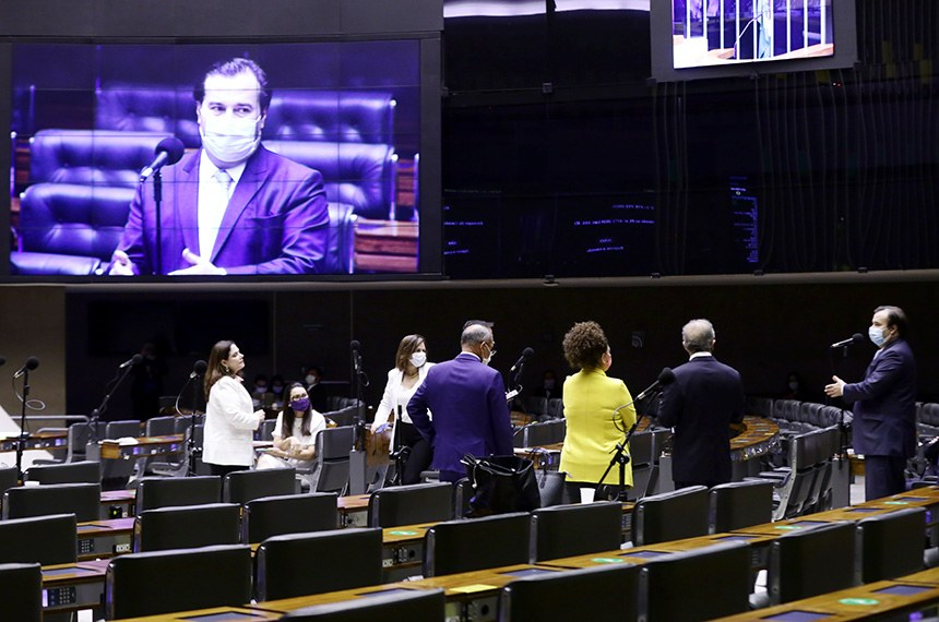 Votação de propostas legislativas. Presidente da Câmara dos Deputados, dep. Rodrigo Maia
